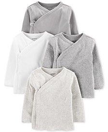 Baby Boys & Girls 4-Pk. Cotton Kimono T-Shirts