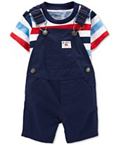 fd7bd9b73 Carter's Baby Boys 2-Pc. Cotton T-Shirt & Shortall Set