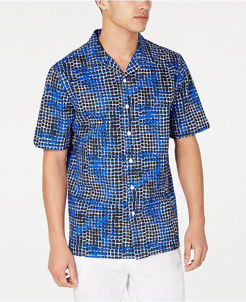 Sean John Men's Geometric Print Shirt