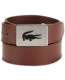 Men's Logo Buckle Leather Belt
