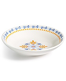 La Dolce Vita White/Cranberry Dinner Bowl, Created for Macy's