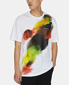 A|X Armani Exchange Men's Abstract Basketball Player Logo Graphic T-Shirt