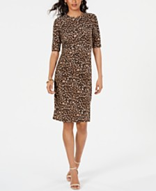 Vince Camuto Animal-Print Sheath Dress