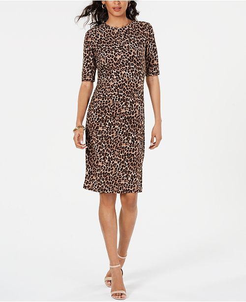 Vince Camuto Animal-Print Sheath Dress
