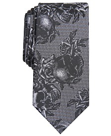 I.N.C. Men's Skull & Roses Graphic Tie, Created for Macy's