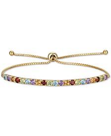 Multi Stone (2 ct. t.w.) Bolo Bracelet in 10k Gold