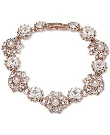Marchesa Rose Gold-Tone Crystal Flex Bracelet