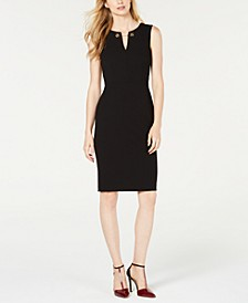 Toggle-Chain Sheath Dress