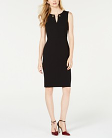 Calvin Klein Toggle-Chain Sheath Dress