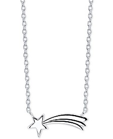 "Unwritten Shooting Star Pendant Necklace in Sterling Silver, 16"" + 2"" extender"