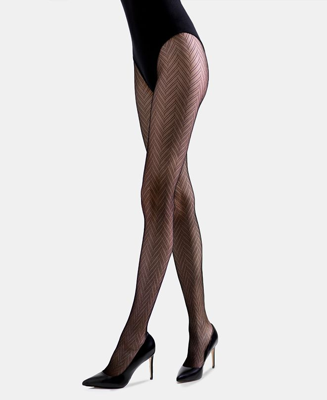 Natori Herringbone Net Tights