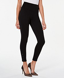 INC Women's Laced-Ankle Leggings, Created For Macy's