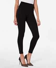 I.N.C. Women's Laced-Ankle Leggings, Created For Macy's