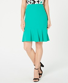 Nine West Flare-Hem Skirt
