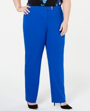 Calvin Klein Plus Straight-Leg Pants