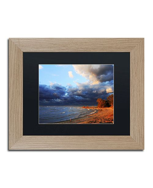 "Trademark Global Jason Shaffer 'Lake Erie Autumn' Matted Framed Art - 14"" x 11"""