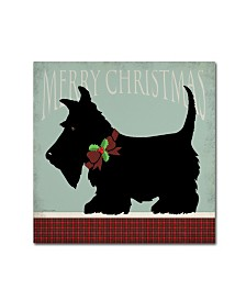 "Stephanie Marrott 'Scottie Merry Christmas' Canvas Art - 14"" x 14"""