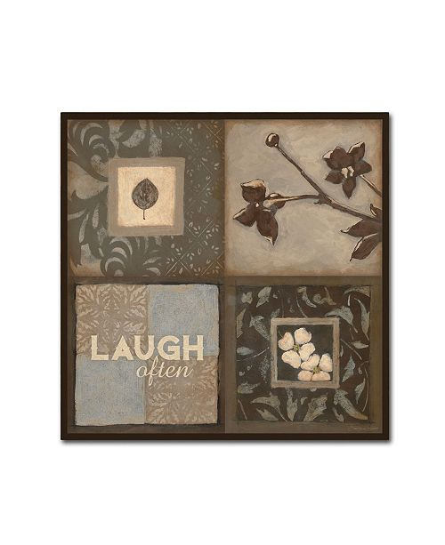 "Trademark Global Stephanie Marrott 'Laugh Often' Canvas Art - 14"" x 14"""