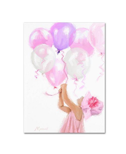 "Trademark Global The Macneil Studio 'Pink Balloons' Canvas Art - 14"" x 19"""