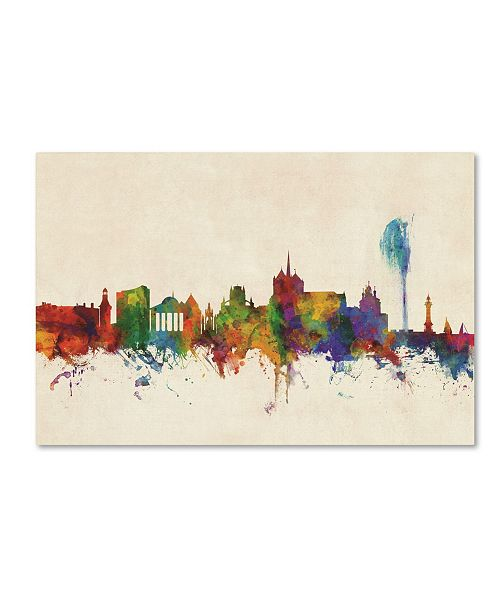 "Trademark Global Michael Tompsett 'Geneva Switzerland Skyline' Canvas Art - 12"" x 19"""
