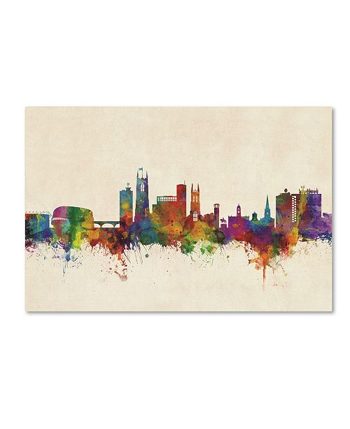 "Trademark Global Michael Tompsett 'Derby England Skyline' Canvas Art - 12"" x 19"""