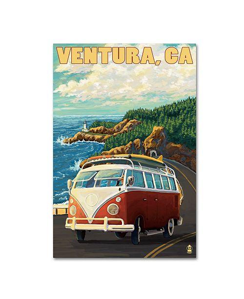 "Trademark Global Lantern Press 'Travel Poster 40' Canvas Art - 12"" x 19"""