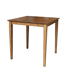 """International Concepts Solid Wood Top Table - 36"""" High"""
