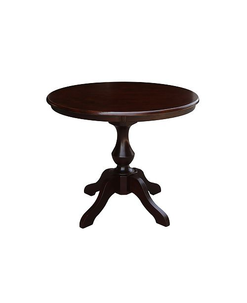 """WHITEWOOD INDUSTRIES/INTNL CONCEPTS International Concepts 36"""" Round Top Pedestal Table - 28.9""""H"""