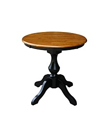 "30"" Round Top Pedestal Table- 28.9""H"