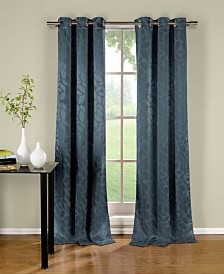 "Zayden 38"" x 96"" Leaf Print Blackout Curtain Set"