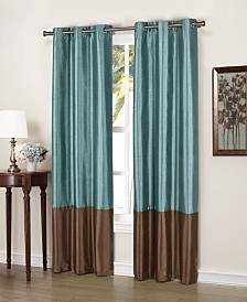 "Bridgette 38"" x 84"" Faux Silk Blackout Curtain Set"