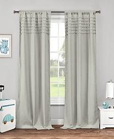 "Lizbett 38"" x 84"" Pompom Trim Curtain Set"