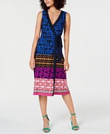 Trina Turk Sleeveless Printed Wrap Dress