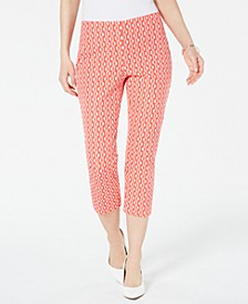 Geometric-Print Cropped Pants, Created for Macy's