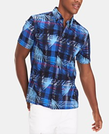 Tommy Hilfiger Men's Custom Fit Kaleo Madras Print Shirt