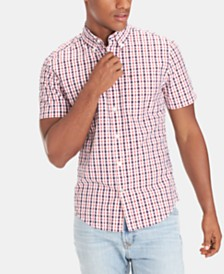 Tommy Hilfiger Men's Slim Fit Widmore Check Seersucker Shirt