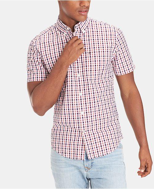 Tommy Hilfiger Men's Slim Fit Widmore Check Seersucker Shirt