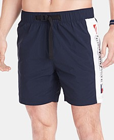 Men's Logo Graphic Swim Trunks, Created for Macy's