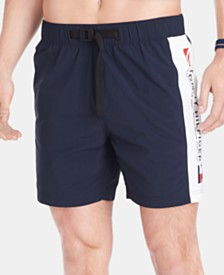 Tommy Hilfiger Men's Logo Graphic Swim Trunks, Created for Macy's