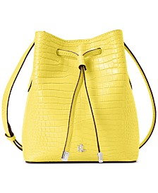 Lauren Ralph Lauren Dryden Mini Debby II Leather Drawstring Bag