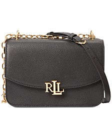 Lauren Ralph Lauren Madison Pebbled Leather Crossbody