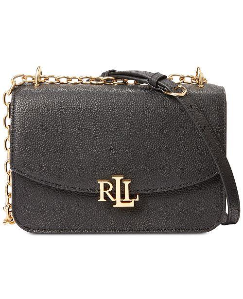 Lauren Ralph Lauren Madison Pebbled Leather Crossbody