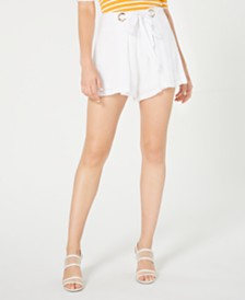 GUESS Chica Grommet-Embellished Shorts
