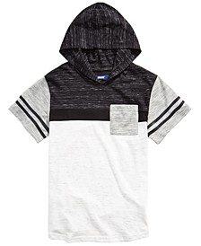 Big Boys Kingston Colorblocked Stripe Hooded T-Shirt