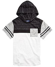 Big Boys Kingston Colorblocked Stripe Hooded T-Shirt