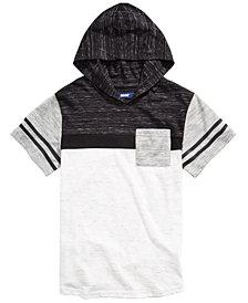 Univibe Big Boys Kingston Colorblocked Stripe Hooded T-Shirt