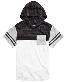 Univibe Big Boys Kingston Colorblocked Stripe Hooded T-Shirt