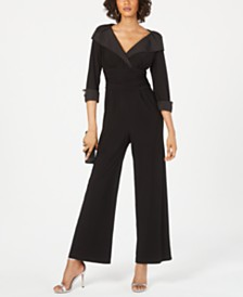 Jessica Howard Portrait-Collar Jumpsuit