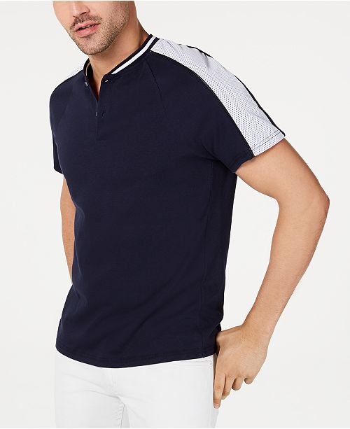 INC International Concepts I.N.C. Men's Perforated Polo, Created for Macy's