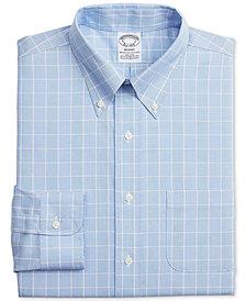 Brooks Brothers Men's Regent Slim-Fit Stretch Non-Iron Check Dress Shirt